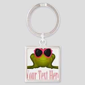 Frog in Pink Sunglasses Custom Keychains